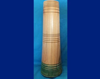 A slim, nicely figured Sycamore wood vase -  Acrylic tube insert to hold water  - SALE ITEM - wooden vase