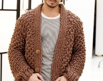 Green cardigan chunky cocoon wool cardigan oversized