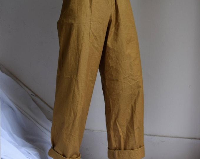 Yves Saint Laurent Rive Gauche Gold Wide Leg Lounge Pant
