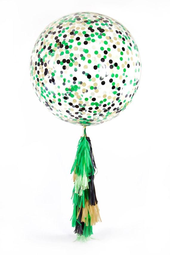 "36"" Where The Wild Things Are Balloon, Giant Clear Balloon, Confetti Balloon Tassel Balloon First Birthday Baby Shower Boy Birthday Woodland"