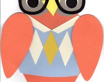 Fall Owls Kit by Paper Source - Makes a 12' Garland of 10 Owls - Mix & Match the Colors and Shapes - Pre-Cut Shapes - Made in USA