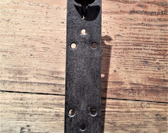 Period Iron Door Handle with Plate and Latch