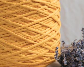 Ocker gelb String Baumwollkordel / 5mm Baumwollseil / Makramee Seil / Diy Makramee / Super weicher Baumwollseil / weben Seil / Makramee