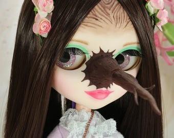 Witch Custom Tangkou doll / OOAK Repaint Art Blythe Pullip