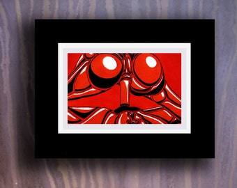 """""""R.C.A."""" Erotic Abstract Drawing [4x6"""" in 7x9"""" frame]"""