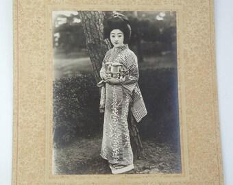 Japanese old photo, Yukata ( summer kimono) cloth Ad/catalog, ref 2
