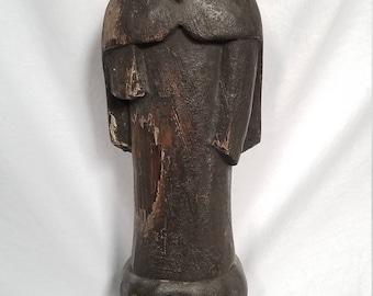 Distressed Santo Statue #1 --the Bishop
