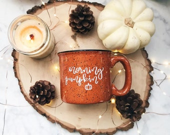 Morning Pumpkin / Autumn / Fall / Orange Campfire Mug