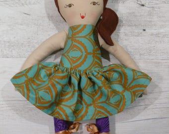 "Eden - Handmade rag doll, 38cm (15""), fabric doll, cloth doll, gifts for girls."
