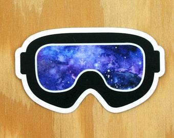 Snowboard Goggles Decal -- Galaxy Print Ski Goggles -- Ski Decal -- Skiing Sticker -- Ski Decor -- Snowboard Decal -- Snowboard Sticker