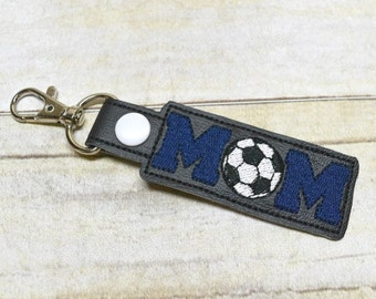 Soccer MOM Keychain, Soccer Accessories, Bag Charm, Soccer Mom Gift, Womens Soccer Key Fob, Bag Tags