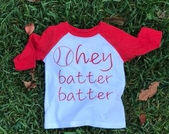 Hey Batter Batter Toddler Baseball T-shirt