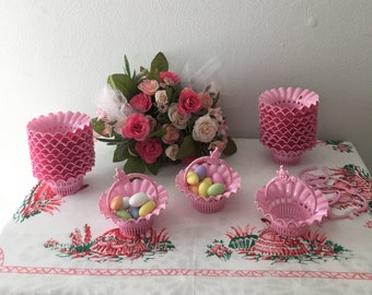 1960's  Pink Candy or Nut Cups