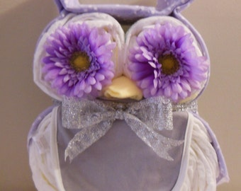 Owl Diaper Cake, Owl Baby Shower Ideas, Owl Baby Shower, Baby Owl Diaper Cake