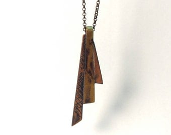 Copper and Brass Pendant
