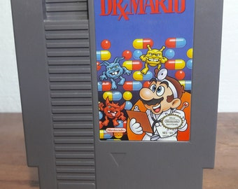 Dr Mario NES Nintendo Video Game - vintage 80s classic puzzle doctor cartoon germs 1980s