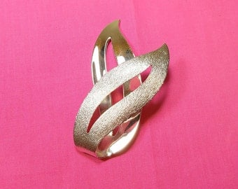 SILVER COVENTRY PIN Vintage Sarah Coventry Brooch Large Minimalist Designer Brooch