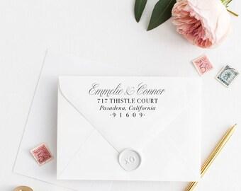 Custom Return Address Stamp, Self Ink Return Address Stamp, Personalized Address Stamp, Calligraphy Address Stamp Return Address Stamp No79