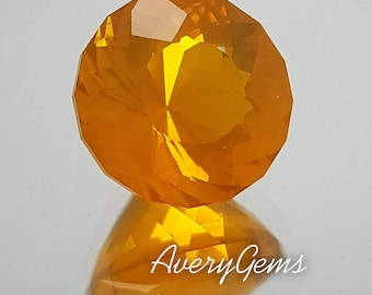 Fire Opal 3.3 Ct  Loose Gemstone Natural Ror Gemstone Ring Opal Ring Opal Necklace Precious Gemstone Precision Cut By AveryGems