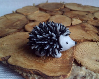 Hedgehog figurine polymer clay Sculpture hedgehog Miniature toy hedgehog  Miniature animal Birthday gift Cozy home decor Gift for son