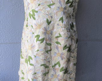 1960's Applique Sheath Dress