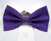 Purple Dragon Scales Bow Tie