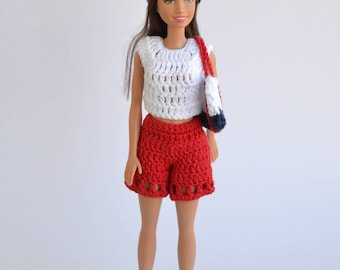 Joint pants for Barbie, clothing for doll, clothes for Barbie, barbie pants, pants for Barbie, fashion doll, Barbie fashion
