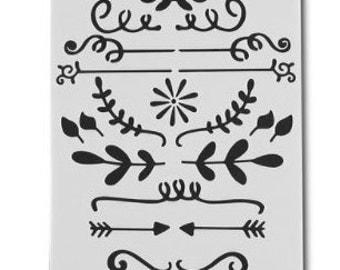 Stencil Variety designs,Plastic Stencil,bullet journal schablonen,alphabet stencils,bullet journal pochoir