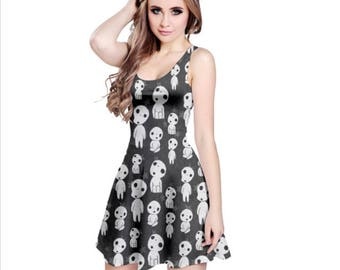 Kodama Dress - Princess Mononoke Dress Cartoon Dress Cosplay Dress Tree Spirit Dress Anime Dress Ghibli Dress Forest Dress Oddity Apparel