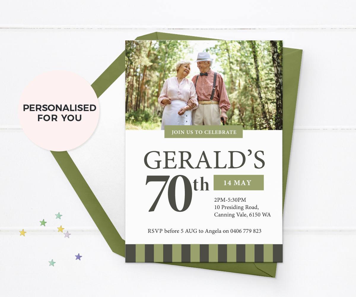 70th birthday invites, 70th birthday invitations, 70th birthday ...