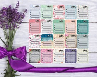 Sheet of 9 Checklists -- Full Box Checklists --Matte Stickers