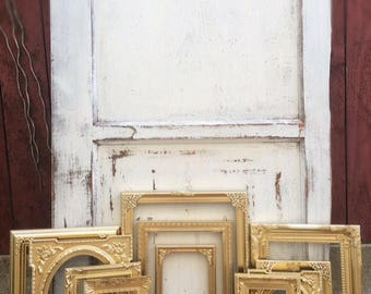Gold Wall Gallery Picture Frame Set, Ornate, Shabby Chic, French Country Cottage, Baroque, Nursery, Home, Decor, Wedding, Rustic, Collage