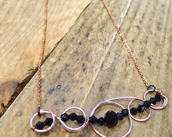 Rose Gold Wirework Necklace