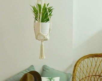 """Macrame door hanging plant, model """"Palm Desert"""""""