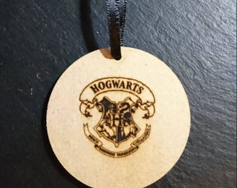 Harry Potter Hogwarts 2nd Sigil Logo Tag Token Decoration MDF Wood Wizard Birthday Gift