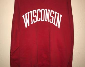Vintage Wisconsin Crewneck Sweatshirt
