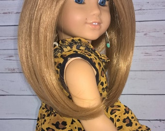 """Custom 10-11"""" Doll Wig Fits Most 18"""" Dolls, Blythe, 1/4 Sized Dolls and More """"Sunny Hunny"""" Heat Safe"""