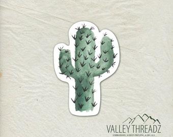Cactus Decal - Cactus Vinyl Sticker - Watercolor Cactus Decal - Car Window Decal - Laptop Sticker - Tumbler Decal