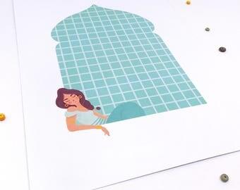 Dreaming Jasmine -A4 print-