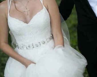 bridal sash, wedding belt , wedding sash , ivory sash , wedding dress accessories , floral wedding sash, white wedding sash, bridal belt ,