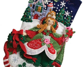 Pre-order 2018 Finished Bucilla Princess Christmas stocking