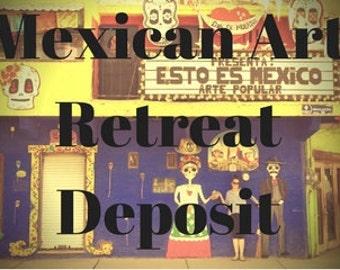 Mexican Art Retreat Deposit for Intuitive Painting Workshop 4-10 November 2018 Deposit for 1 Week Art Retreat in beautiful Mexico Fun & Sun!