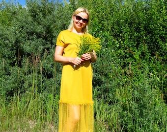 Mustard Flower, long dress, lace dress, jersey dress, comfortable dress, beautiful dress, party dress, everyday dress, loung dress, oversize