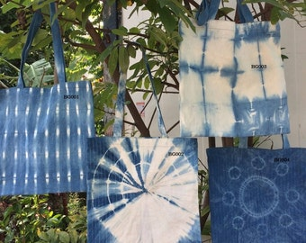 Indigo  dye cotton Bag