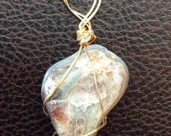 Beautiful Brazilian Agate pendant