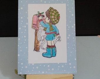 Postbox Christmas card