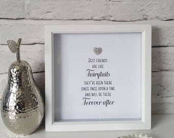 Gorgeous box frame with sparkly crystal embellishment. A perfect gift for a stylish friend or for family. A pretty keepsake memento gift