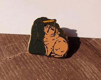 Hot Spring Capybara Hard Enamel Pin - Gold Plated Lapel Pin