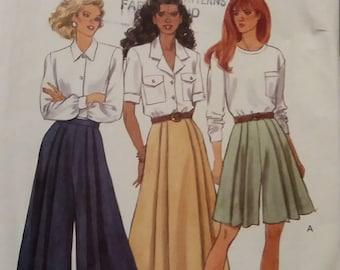 Butterick 5808 Misses' Split Skirt size 6 8 10 Uncut Pattern