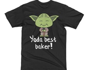 Baker Shirt - Awesome Yoda Baker Tee Shirt - Baker Gifts - Baker Gift -Baker Tee -Best Yoda Baker Pun Tee Shirt -Star Wars Shirt For A Baker
